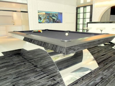 Pool Tables American Pool Tables Olhausen Pool Tables UK - Chrome pool table